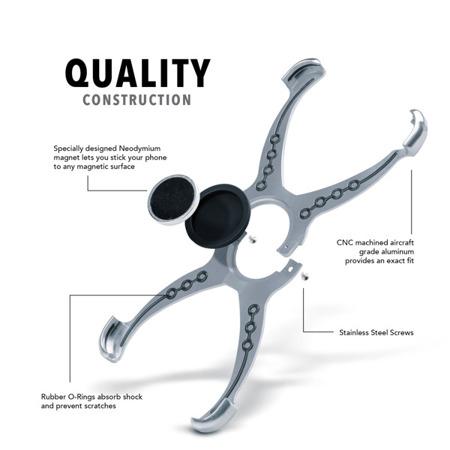 Die Hülle RokForm Predator + Magnethenkel für Apple iPhone 7 / 8 Aluminium-